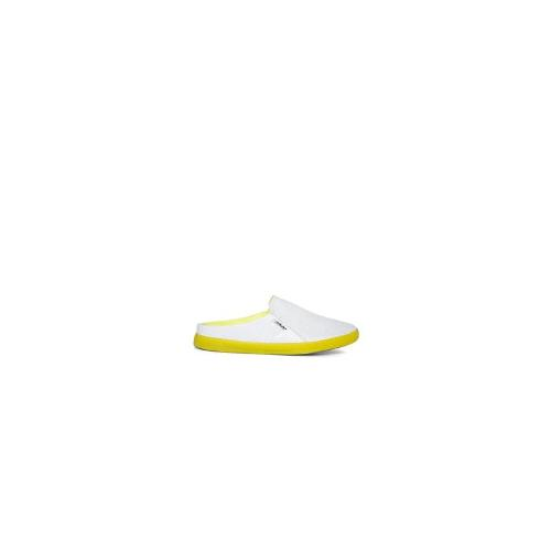 DKNY ACTIVE Boardwalk Mesh Slide White Flat Shoes - White