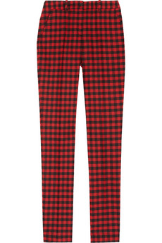 Samantha checked stretch-wool skinny pants