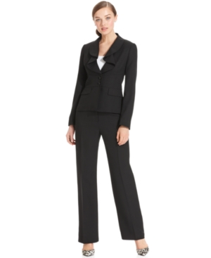 Le Suit Pantsuit, Ruffle-Collar Jacket & Trousers