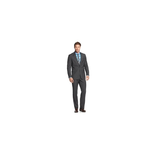 Kenneth Cole Reaction Suit, Grey Stripe Slim Fit