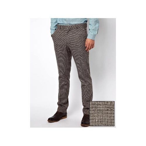 Slim Fit Suit Pants In Houndstooth