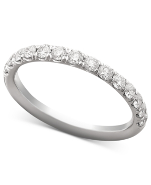 Diamond Ring, 18k White Gold Pave Diamond Band (1/2 ct. t.w.)