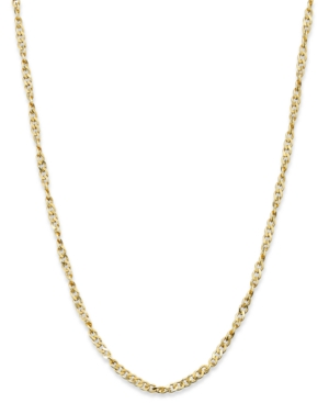 "Giani Bernini 24k Gold over Sterling Silver Necklace, 24"" Diamond-Cut Singapore Chain"