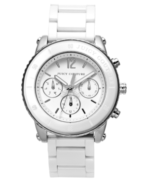 Juicy Couture Watch, Women's Pedigree White Ceramic Bracelet 38mm 1900878