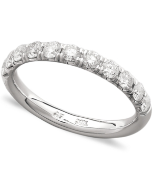 Diamond Ring, 14k White Gold Pave Diamond Band Ring (3/4 ct. t.w.)