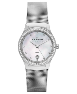 Skagen Denmark Watch, Women's Stainless Steel Mesh Bracelet 26mm SKW2042