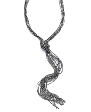 Alfani Necklace, Shot Bead Lariat