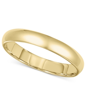 14k Gold Ring, 3mm Comfort Fit Wedding Band