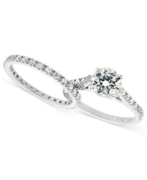 B. Brilliant Sterling Silver Ring Set, Cubic Zirconia Wedding Band and Engagement Ring Set (1-3/4 ct. t.w.)