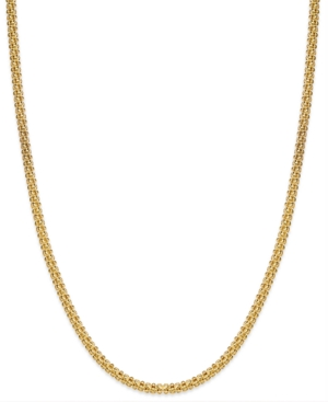 "Giani Bernini 24k Gold over Sterling Silver Necklace, 20"" Round Textured Chain Necklace"