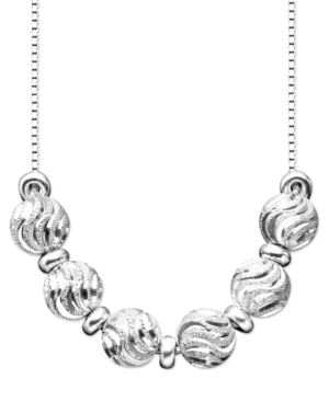 Giani Bernini Sterling Silver Necklace, Diamond-Cut Bead