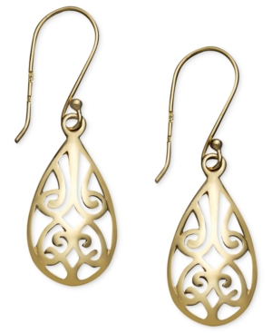 Giani Bernini 24k Gold over Sterling Silver Earrings, Filigree Teardrop Earrings