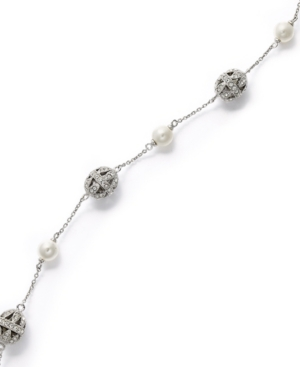 Eliot Danori Bracelet, Filigree Crystal and Simulated Pearl Bracelet