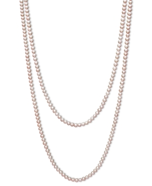 "Pearl Necklace, 100"" Pink Cultured Freshwater Pearl Endless Necklace (7-8mm)"