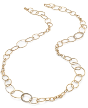 ABS by Allen Schwartz Necklace, Gold-Tone Open Link Strand Necklace