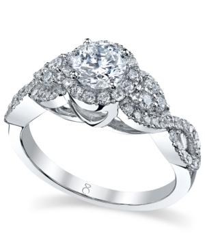 My Diamond Story Ring, 18k White Gold Certified Crisscross Diamond Engagement Ring (1-1/4 ct. t.w.)