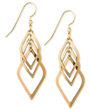Silver Forest Earrings, Gold-Tone Kite Layered Drop Earrings