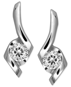 Sirena Diamond Earrings, 14k White Gold Diamond Swirl Earrings (1/4 ct. t.w.)