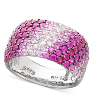 Balissima by Effy Collection Sterling Silver Ring, Shades of Pink Sapphire Band (3-1/6 ct. t.w.)