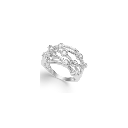 Sterling Silver Ring, Cubic Zirconia Circle Ring (1 ct. t.w.)