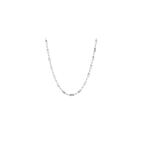 Jill Zarin Necklace, Silver-Tone Rectangle Link Chain Necklace