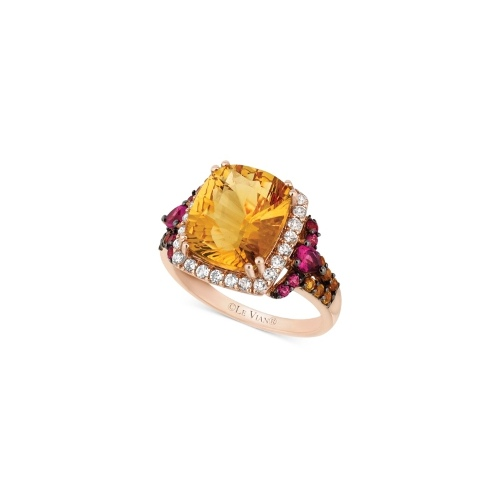 Le Vian 14k Rose Gold Ring, Citrine, White Topaz and Rhodolite Ring (5-1/5 ct. t.w.)