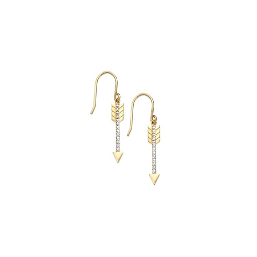Victoria Townsend 18k Gold over Sterling Silver Earrings, Diamond Accent Arrow Earrings