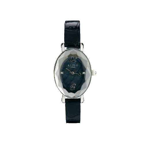 Black Strap Watch With Black Dial