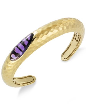 The Fifth Season By Roberto Coin 18k Gold over Sterling Silver Bracelet, Amethyst CapriPlus Cuff (7-1/3 ct. t.w.)