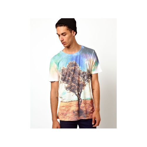 Cosmic Tree T-Shirt With All Over Print