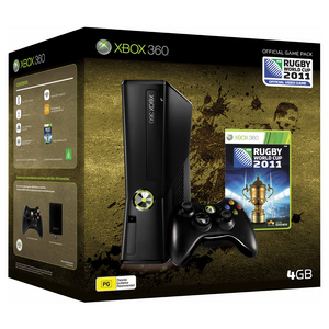 Xbox 360 4GB Console + Rugby World Cup 2011 Bundle