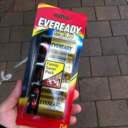 EVEREADY GOLD D BATTERY:4 PACK