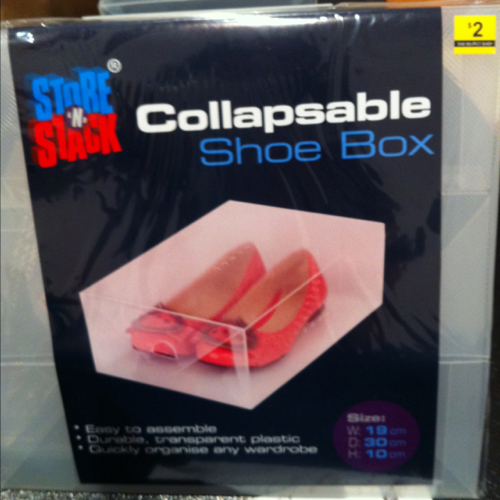 Store n stack collapsible shoe box
