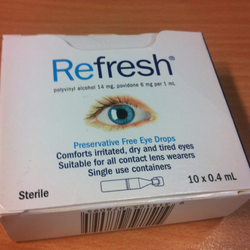 Refresh preservative free eye drops 10x0.4ml