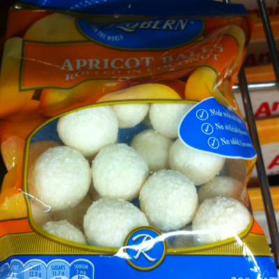 Apricot Balls Rolled in coconut