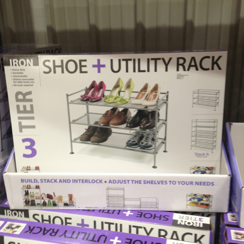 Iron 3 Tier Shoe And Utility Rack