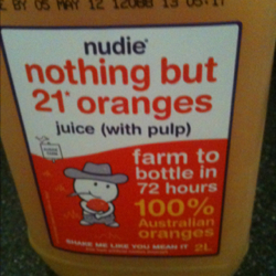 NUDIE NOTHING BUT ORANGE JUICE:2 LITRE