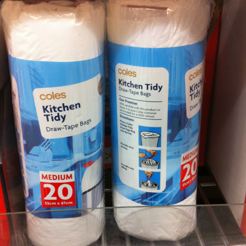 COLES KITCHEN TIDY DRAWSTRING MED:20 PACK