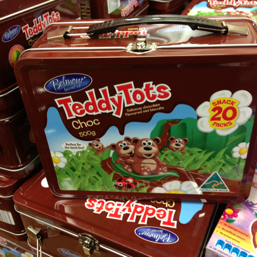 Teddy Tots Lunch Box Tin 20pk