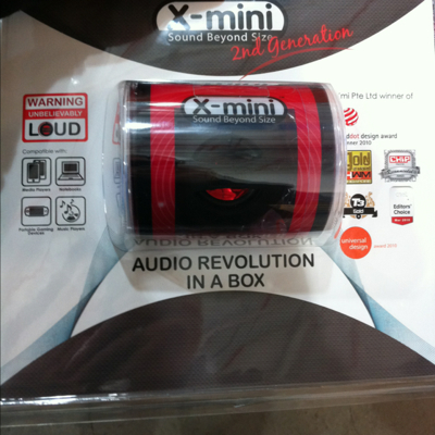 X-mini II capsule speaker for MP3 player