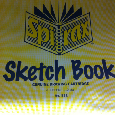 Spirax sketch book 20sheets 110gm