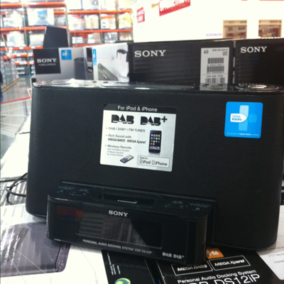 Sony IPod dock with DAB and digital radio