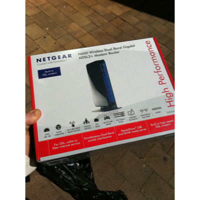 Netgear N600 Wireless Dual Band Gigabit ADSL2+ Modem Router