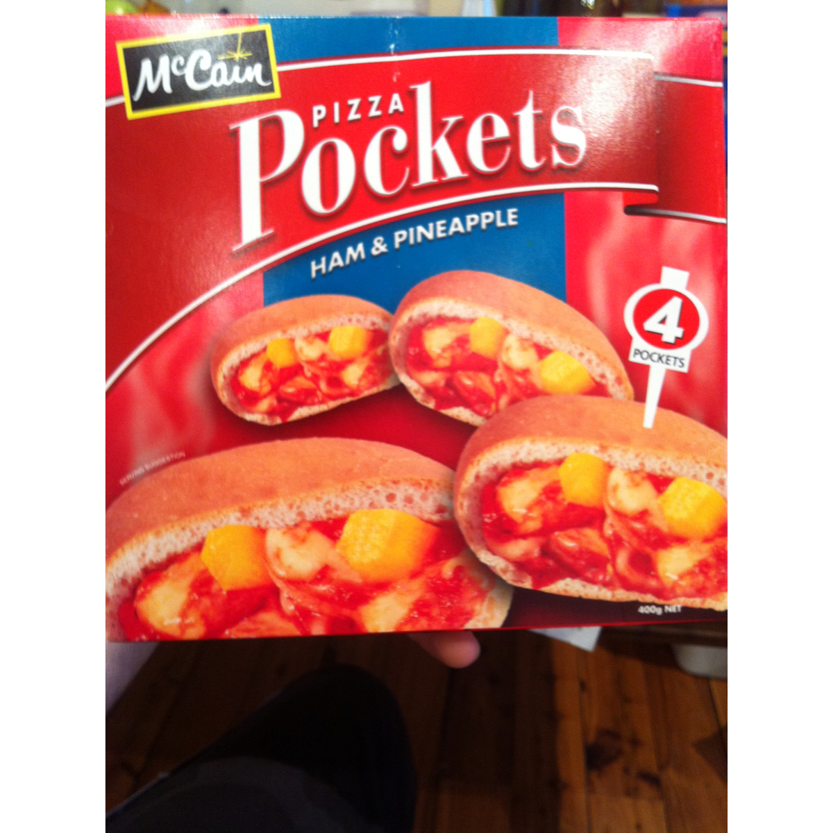 McCain Pizza Pockets Ham and Pineapple 400g