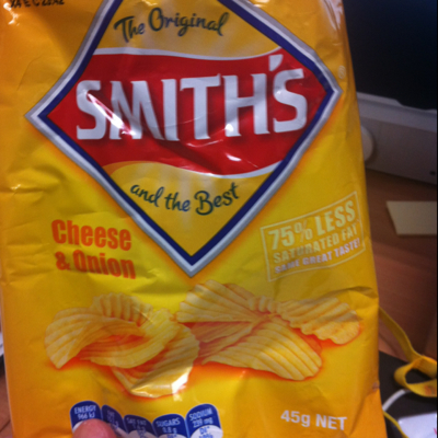 Smiths chips cheese and onion