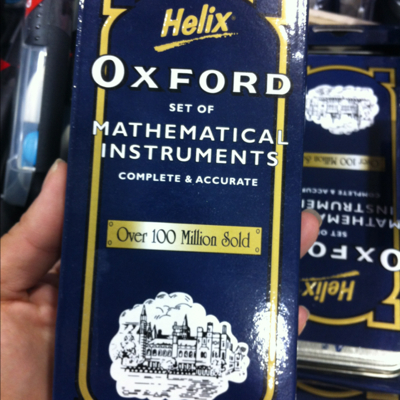 Oxford helix math instruments