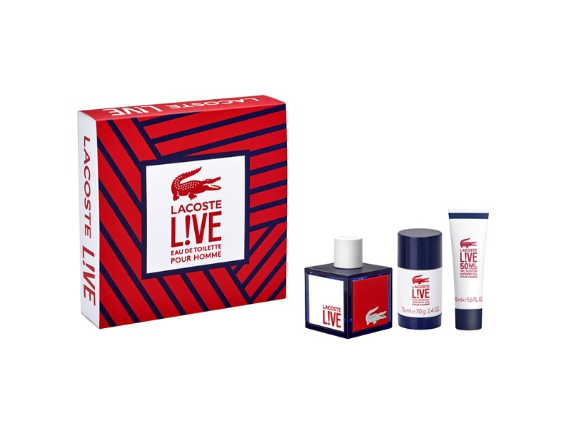 Lacoste Live by Lacoste 100ml EDT 3 Piece Gift Set