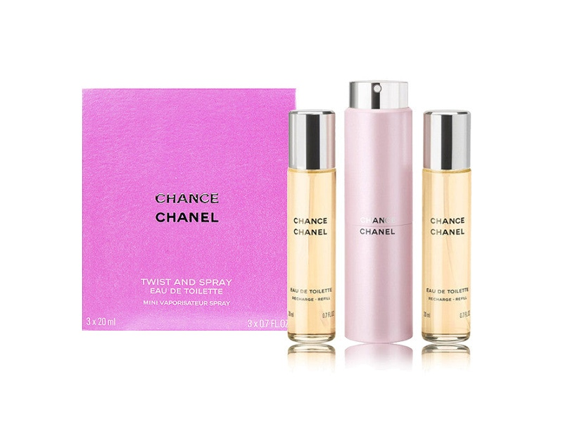 Chance by Chanel 3x 20ml Twist and Spray