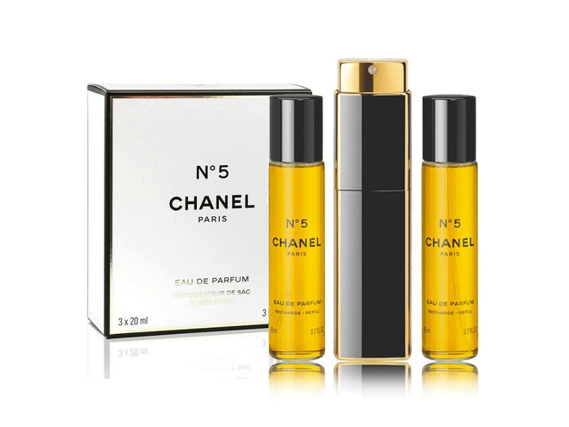 Chanel No.5 by Chanel 3x 20ml EDP Purse Spray