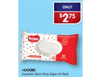 Alliance Pharmacy Huggies Essential Clean Baby Wipes 80 Pack